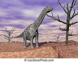 Argentinosaurus, Dinosaurio, salvaje
