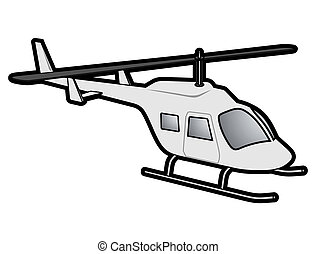 Icon helicopter - Creative design of icon helicopter