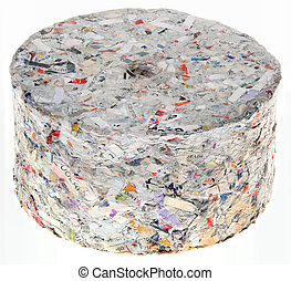 Paper Briquette Cutout