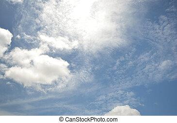 cloud scape - nice form of cloud on blue sky.