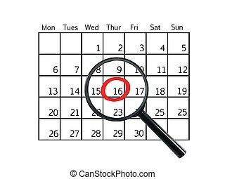 Calendar - A close up shot od a contempory calendar