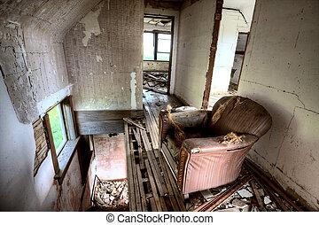 Interior Abandoned Building prairie Saskatchewan Canada...