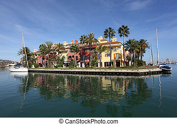 Marina in Sotogrande, Costa del Sol, Andalusia Spain