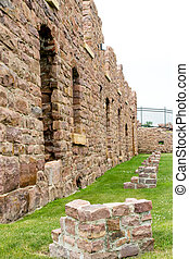 Ruins of the Queen Bee Mill - SIOUX FALLS, SD, USA - JULY...