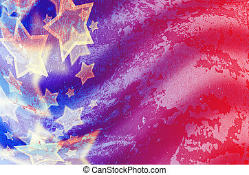 abstract American flag in grunge style