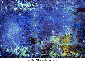 Blue toned wall