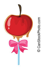 a lolly - illustration of a lolly sweet on a white...