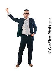 asian business man delight