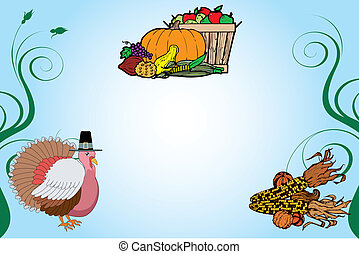 Thanksgiving Background 2 - Vector Illustration of a...