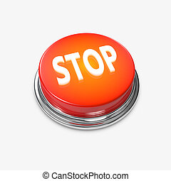 Red glowing Alert Button Stop