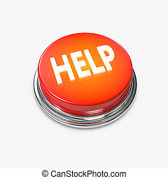 Red glowing Alert Button Help