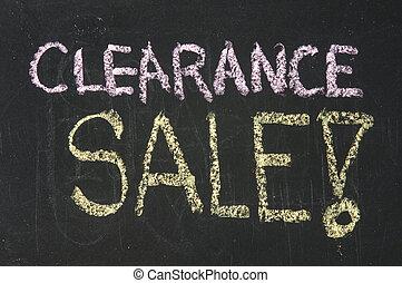 folga, venda, palavras, escrito, chalkboard