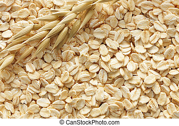 oats background - oatmeals with its cereal plant as...