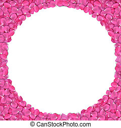 rose petals frame - Round shape frame from rose petals on...