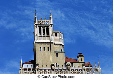 Asheville Downtown - Gothic Revival architecture is shown in...