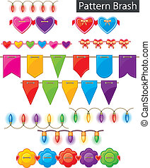 Pattern brash - colored garland
