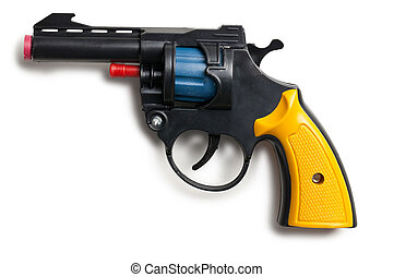 brinquedo, arma, plástico