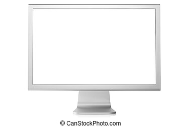 Computer monitor - Computer Monitor with blank white screen....