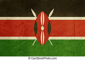 Grunge Kenya flag - Grunge sovereign state flag of country...