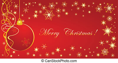 Christmas congratulation card for design in red color