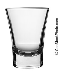 Empty glass - An empty shot glass on white background.