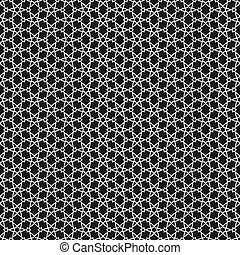 Vector black and white islamic pattern
