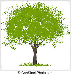Vector green blot tree