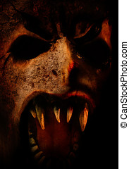Scary horror face for you halloween or dark party - very...