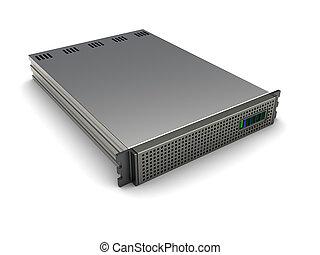 Server - 3d image, server equipment isolated on white...
