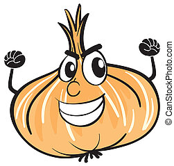 onion - illustration of an onion on a white background