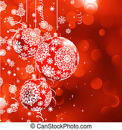 Christmas bokeh background with baubles. EPS 8