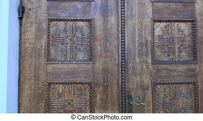 handmade carved oak door - original handmade carved oak door...