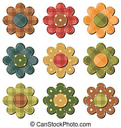 scrapbook flower on white background vector
