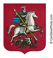 Grunge Moscow coat of arms