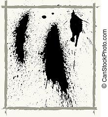 ink splats and frame