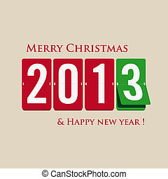 Merry Christmas and happy new year - Mechanical numbers...