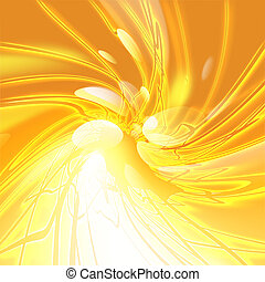 glowing stripes - abstract glowing stripes on gold...