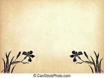 Illustration of flowers on old paper