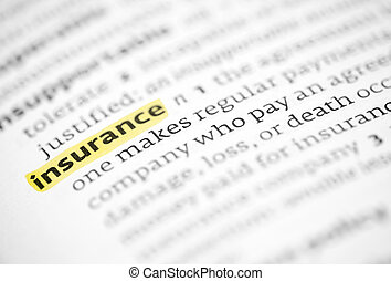 The word insurance highlighted