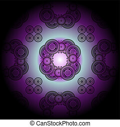 Fractal Illustration background. Abstract graphic