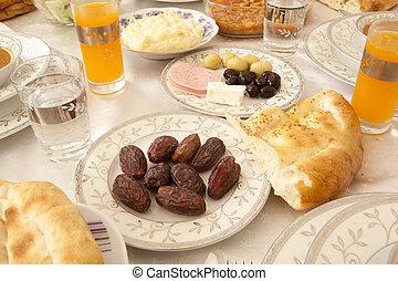 Ramadan dining table.