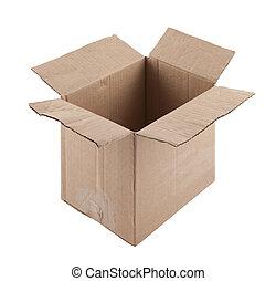antigas, papelão, caixa