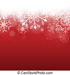 Vector Winter Background - Vector Illustration of a Winter...