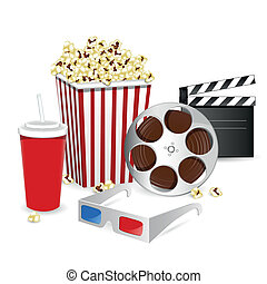 Vector Cinema Elements - Vector Illustration of Cinema...