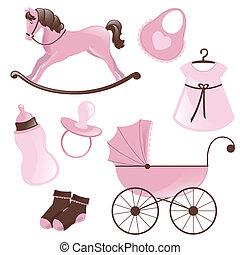 Vector Baby Elements - Vector Illustrationn of Baby Elements