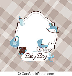 Vector Baby Shower - Vector Illustration of a Baby Shower