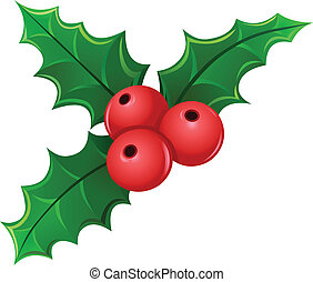Mistletoe - Christmas holly berry mistletoe