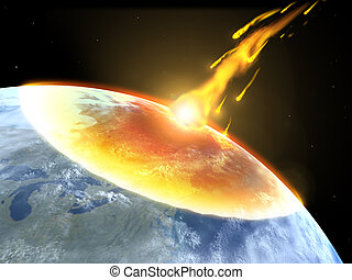 Collision of an asteroid with the Earth - Global accident -...