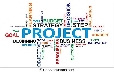 word cloud - project - A word cloud of project related items