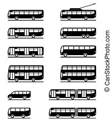 Buses and coaches - vector illustration